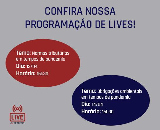 Programação de lives