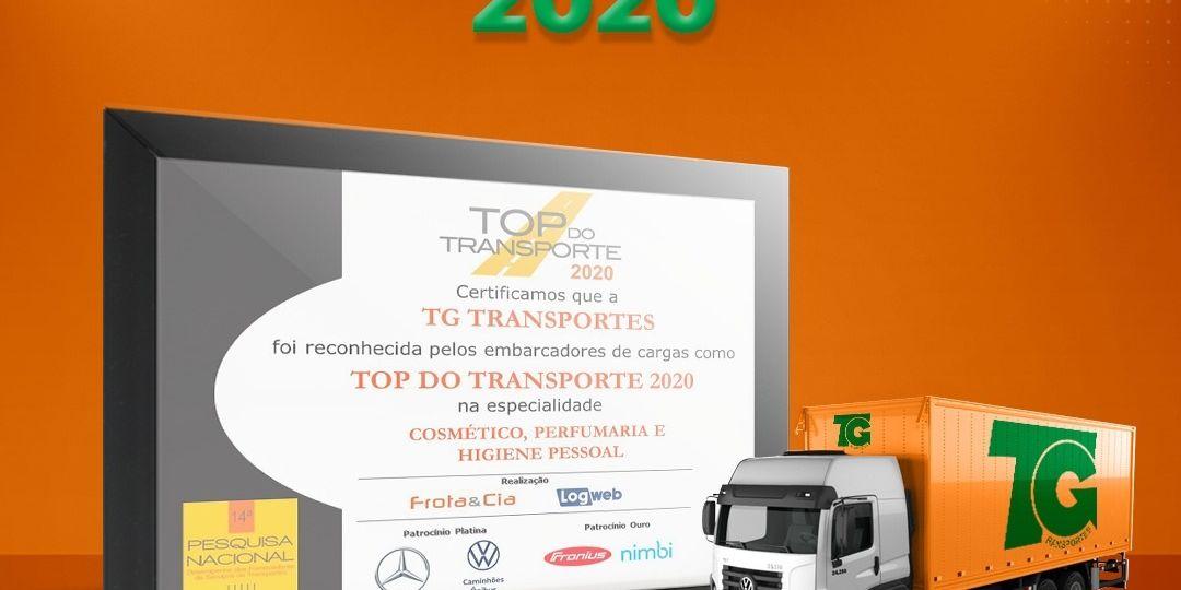 TG Transportes - top do transporte 2020